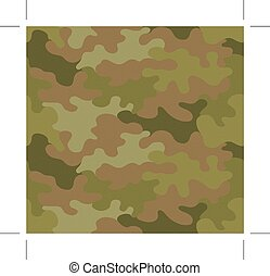 mörk, brun, kamouflage