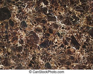 mörk, brun, knäckt, marmor, struktur