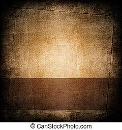 mörk, brunt pappers-, bakgrund, årgång