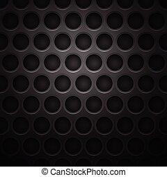 mörk, cell, metall, bakgrund
