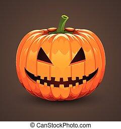 mörk, halloween, bakgrund, pumpa