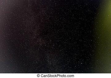 mörk, natt himmel, med, stars.