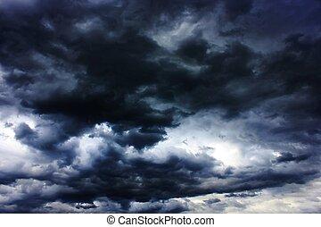 mörk, stormmoln