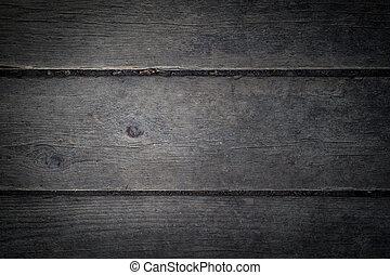 mörk, trä, bakgrund, grå, struktur