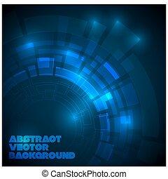 mörkblå, abstrakt, teknisk, bakgrund