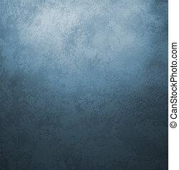 mörkblå, grunge, gammal, papper, årgång, retro designa,...