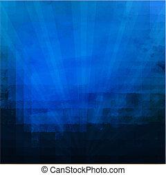 mörkblå, sunburst, struktur