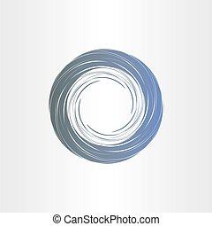 mörkblå, tromb, abstrakt, bakgrund