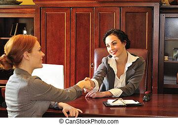 möte, affärsverksamhet kvinnor