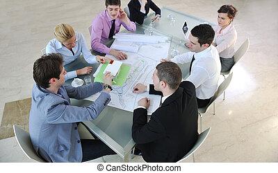 möte, arkitekt, affärsverksamhet lag