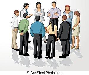 møde, folk branche