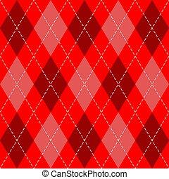 mønster, år, argyle., skotske, nye, bur, jul