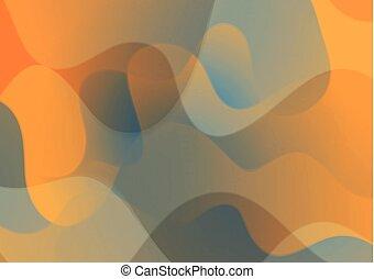 mønster, abstrakt, bølgede, korporativ, baggrund
