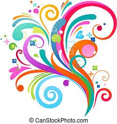 mønster, abstrakt, plaske