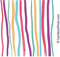 mønster, abstrakt, striber, farverig