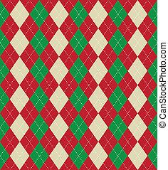 mønster, argyle, jul