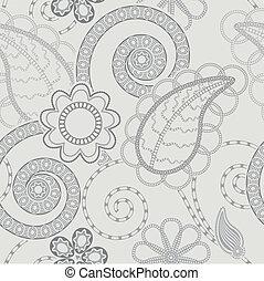 mønster, baggrund, seamless, blomstrede