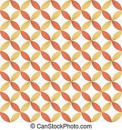 mønster, blomst, farverig, bånd, seamless