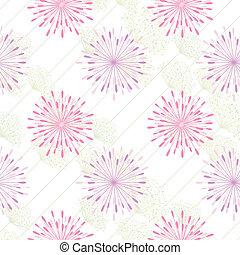 mønster, blomst, farverig, seamless, baggrund