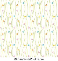 mønster, blomst, seamless, farverig