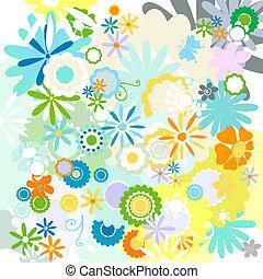 mønster, blomst