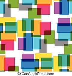 mønster, firkantet, seamless, farvedias, grafik