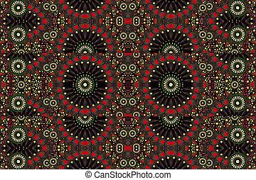 mønster, geometriske, digitale