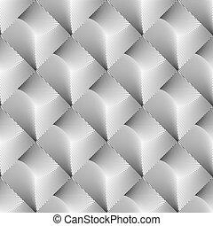 mønster, geometriske, firkant, konstruktion, seamless