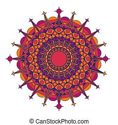 mønster, geometriske, radial