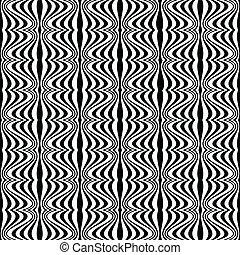 mønster, -, illusion, optisk, geometriske, affattelseen