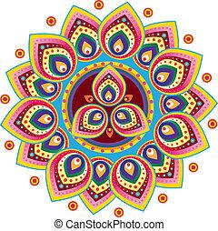 mønster, indisk