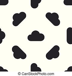 mønster, isoleret, illustration, gråne, baggrund., vektor, seamless, hvid sky, ikon