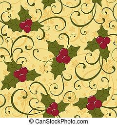 mønster, jul, seamless
