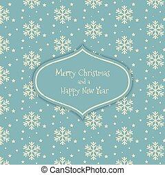 mønster, jul, sneflage
