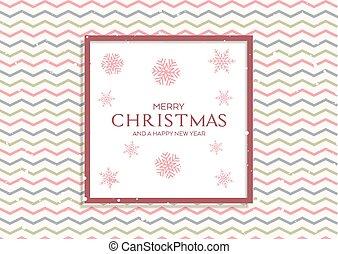mønster, jul, sneflager, baggrund, retro