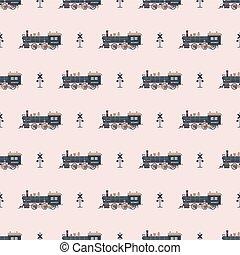 mønster, lokomotiv