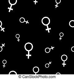 mønster, pige, venus, magt, seamless