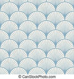 mønster, retro, japansk, seamless