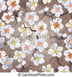 mønster, sakura, seamless