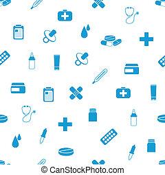 mønster, seamless, apotek