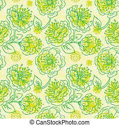 mønster, seamless, blomstrede
