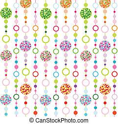 mønster, seamless, farverig