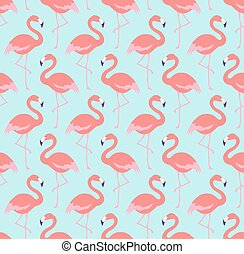 mønster, seamless, fugle