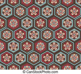 mønster, seamless, japansk