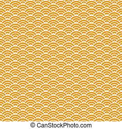 mønster, seamless, kinesisk