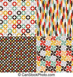 mønster, seamless, retro