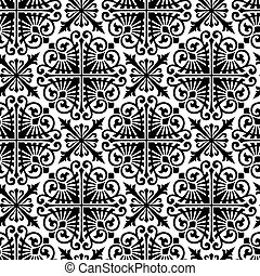 mønster, seamless, vector., damask