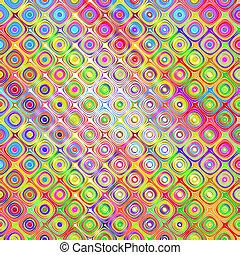 mønster, skitse, blokke, farverig
