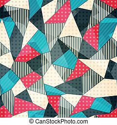 mønster, stykker, seamless, fabric