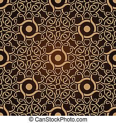 mønster, tapet, seamless, brun